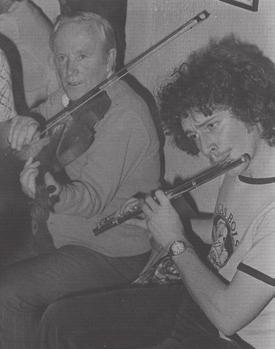 Kevin Moloney in the Ballinakill Ceili Band