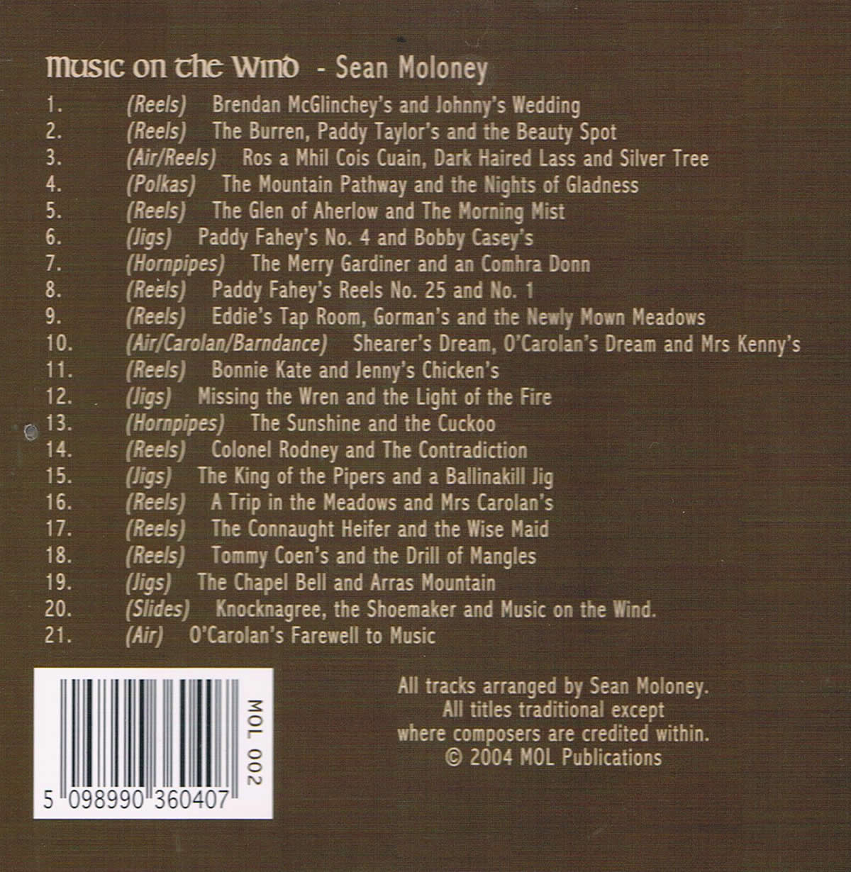 Music on the Wind Tracklist